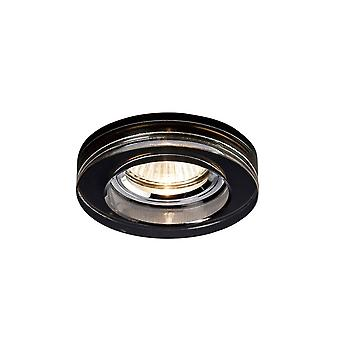 Diyas Crystal Downlight Deep Round Rim Only Black, IL30800 Required To Complete The Item