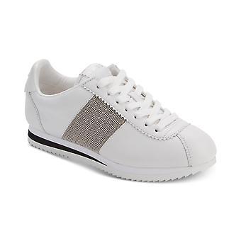DKNY Damen Tezi Leder Low Top Lace Up Fashion Sneakers