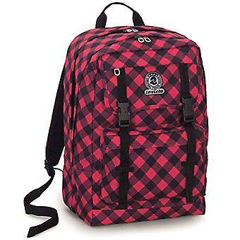 Backpack Duffy Invicta - PLAID - Scottish Red - 30 Lt - Double Compartment - For Portable - school and leisure