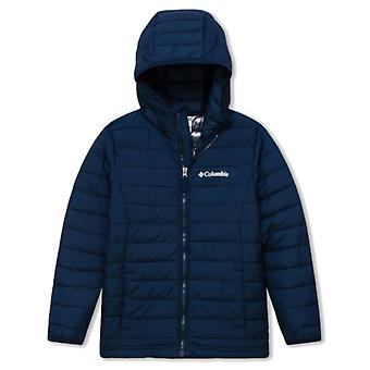 Columbia Powder Lite jongens Junior Hooded Jacket | Collegiale Marine