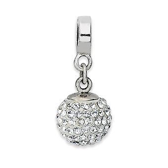 925 plata esterlina pulido reflexiones abril bola de cristal dangle cordón encanto colgante collar joyas regalos para las mujeres