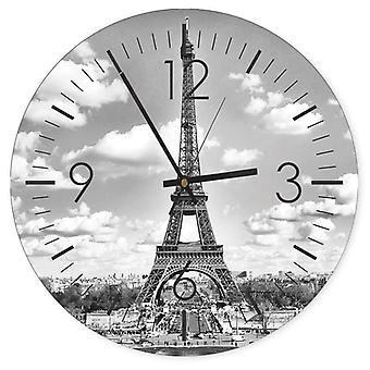 Decorative Clock With Picture, Eiffel Tower