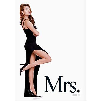 Dhr. & Mrs. Smith (dubbelzijdig vooruit Mrs) originele Cinema poster