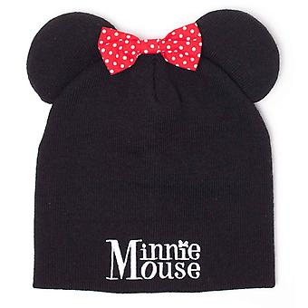 Minnie Mouse Beanie Hat Bow and Ears logo new Official Disney Black