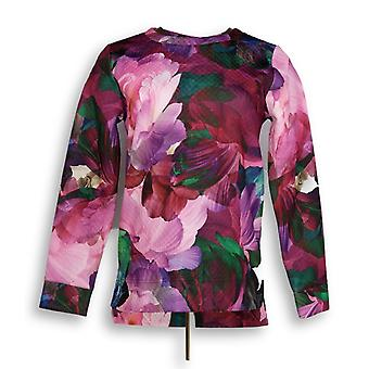 Isaac Mizrahi Live! Kvinner ' s Photoreal floral vattert rosa A294543