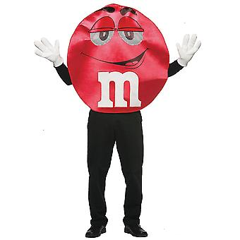 M&M Deluxe Red Poncho Chocolates Sweet Treats Junk Food Mens Womens Costume