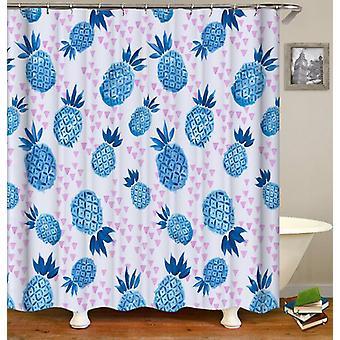 Blauwe ananas patroon douche gordijn