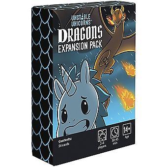 Unstable Unicorns Dragons Expansion Pack pour jeu de cartes