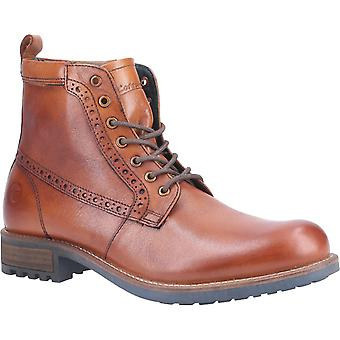 Cotswold Mens Dauntsey Lace up Boot Tan