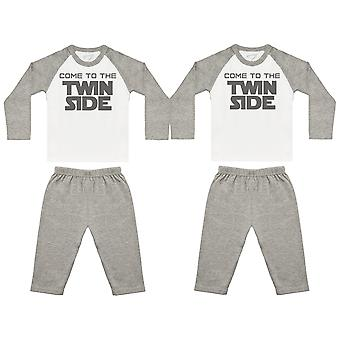Come To The Twin Side Baby Twin Pyjamas, Baby Twins Nightwear, Baby Twins Gift