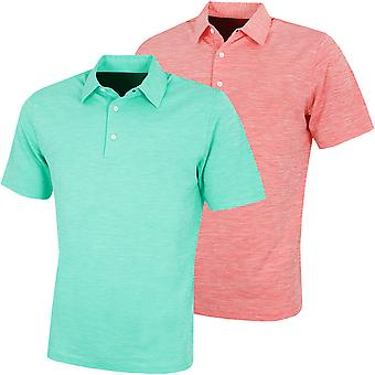 Greg Norman Mens KX73 Bold Heathered Golf Wicking Polo Shirt