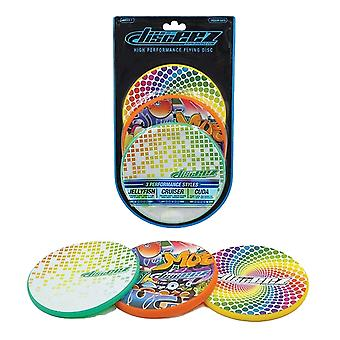 Disceez High Performance Flying DIC, 13cm, valikoitu (3 kpl), Pienet neliöt