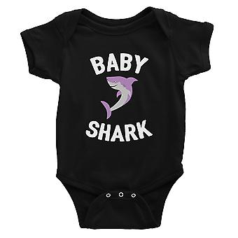 Daddy Mommy Baby Shark Family Matching Outfits Baby Black Bodysuit