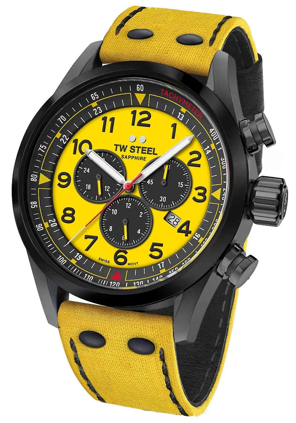 Tw Steel Swiss Volante Svs302y Wtcr Limited Edition Chronograph Watch 48mm