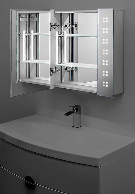 Étonner LED miroir armoire avec capteur & rasoir k19