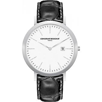 Beuchat CB0055-1 watch - black leather woman