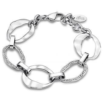 LS1672-2-1 - steel woman crystals Bracelet Rainbow bracelet