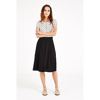 Louche Hasina Pleated Midi Skirt Black