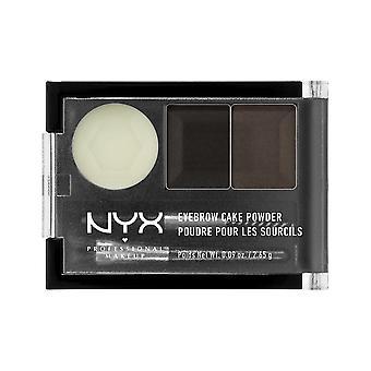 NYX PROF. MAKEUP Poudre de gâteau à sourcils - Noir/Gris