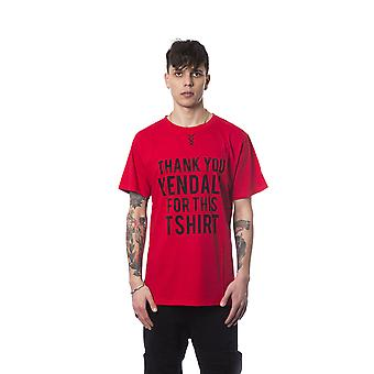 Red Nicolo Tonetto men's short-sleeved T-shirt