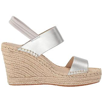 Kenneth Cole New York Womens 7 Olivia Simple Leather Peep Toe Casual Espadril...