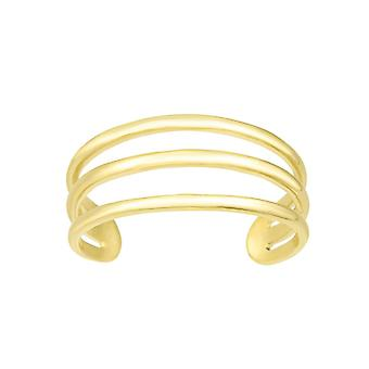 14k Gold Yellow Finish 6.5mm Polished Toe Ring Jewelry Gifts for Women - 1.1 Grams