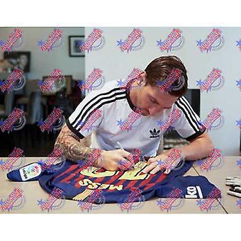 Barcelona Messi Signert Skjorte 18-19