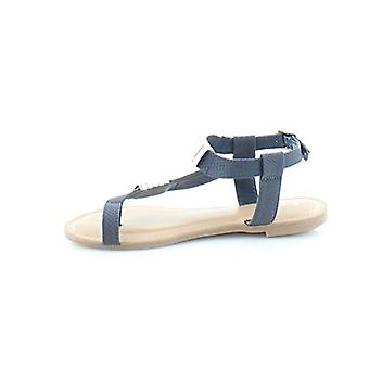 Bar III Womens Vella Leather Open Toe Casual Strappy Sandals