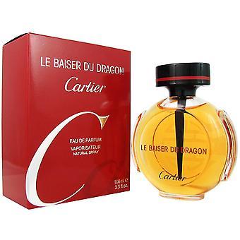 Le baiser du dragon de mujeres por eau de parfum spray de cartier de 3.3 oz