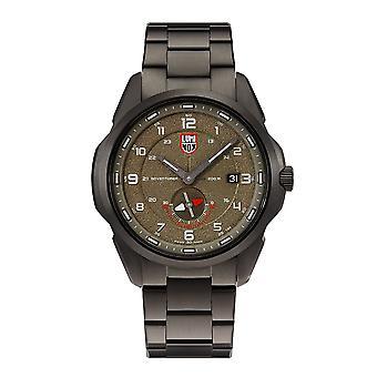 Luminox Atacama Avonturier Veld Quartz Brown Dial Gunmetal Grey Stainless Steel Men's Watch XL.1768