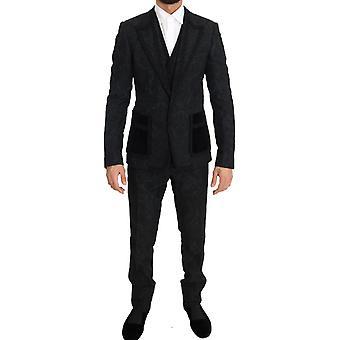 Dolce & Gabbana Black Torrero Slim 3 Piece One Button Pak