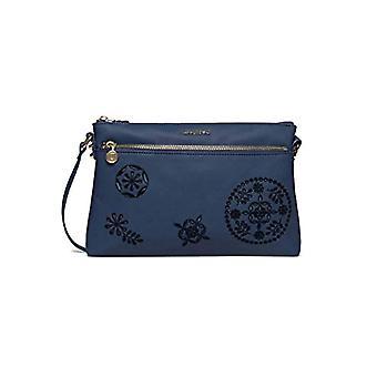 Desigual Blue Women's shoulder bag (Blue (AZUL ESPACIAL 5025)) 4x17.5x27.2 cm (B x H x T)