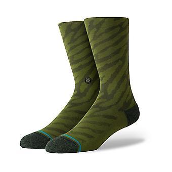 Stance Eldrick Crew Socks in Olive