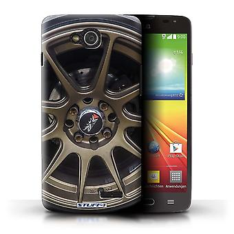 STUFF4 Case/Cover for LG L90 Dual/D410/Gold/Bronze/Alloy Wheels