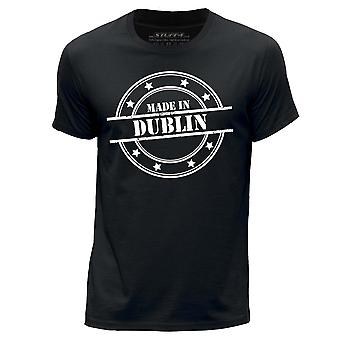 STUFF4 Men-apos;s Round Neck T-Shirt/Made In Dublin/Black