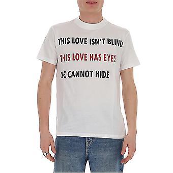 Valentino Tv3mg05k62q0bo Men's camiseta de algodón blanco