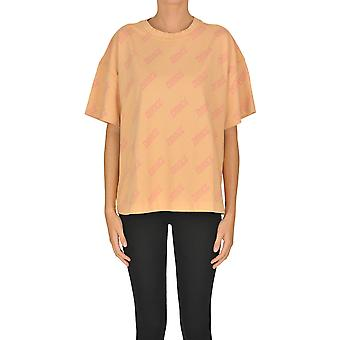 Acne Studios Ezgl151035 Women's Orange Cotton T-shirt