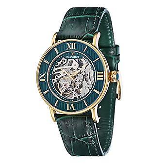 Bracelet de cuir vert de Thomas Earnshaw, Armagh affichage ES-8038-06-wristwatches, mâle, analogique,