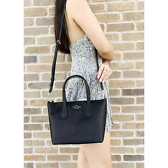 Kate spade joeley glitter ina small satchel crossbody bag wkru6281 black