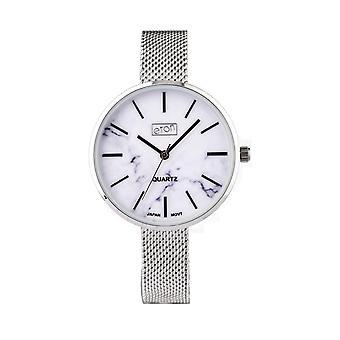 Eton Women Analog Watch, Marble effect dial, St Steel Mesh Strap 3307L-CH