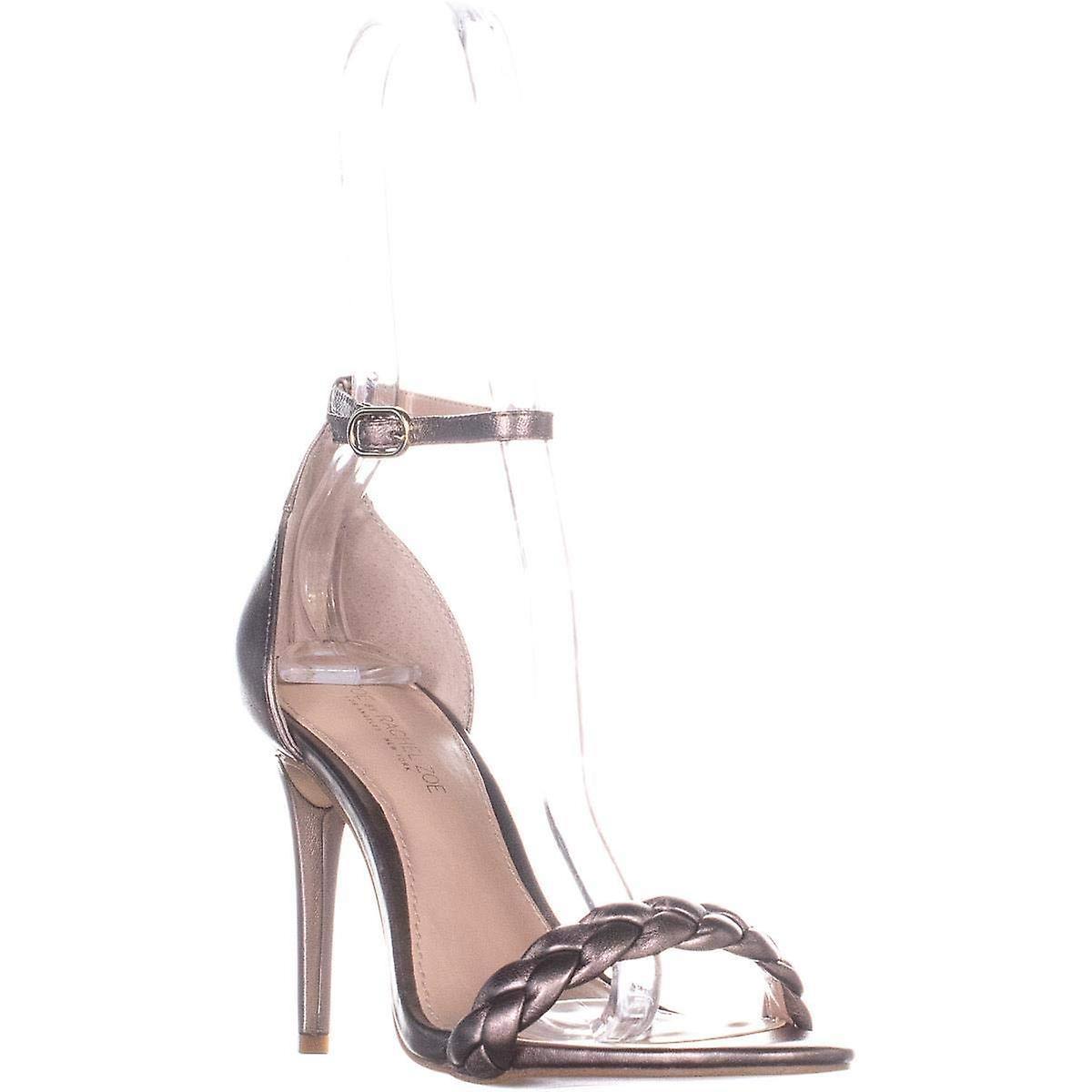 Rachel Zoe Womens Ella Sandały Skórzane Otwarte Toe Formalne sandały z paskiem do kostki sOlVa