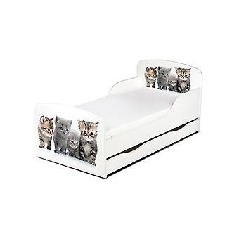 Lit pour tout-petits de chaton de PriceRightHome avec le stockage de sous-lit