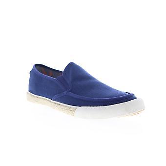 Original Penguin Rodney  Mens Blue Canvas Slip On Sneakers Shoes