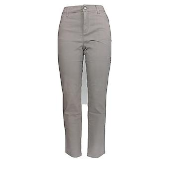 LOGO af Lori Goldstein Women's Jeans 5-Pocket Stretch Sateen Gray A294492
