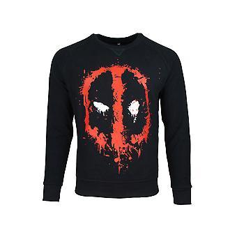 Official Deadpool Dripping Face Men's Sweater