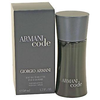 Armani Code Eau De Toilette Spray av Giorgio Armani 1.7 oz Eau De Toilette Spray