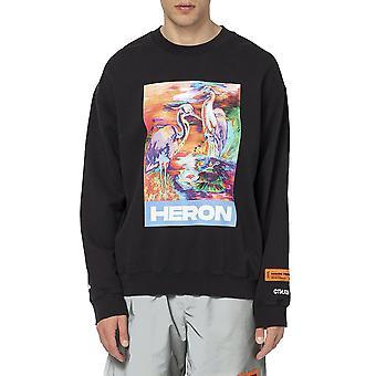 Heron Preston Hmba007s208960211088 Men's Black Cotton Sweatshirt