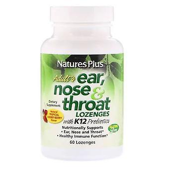 Voksen ' s øre-næse & hals sugetop-naturlige tropiske kirsebær bær (60 sugetler)-natur ' s plus