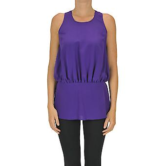 Aspesi Ezgl050095 Women's Purple Silk Top