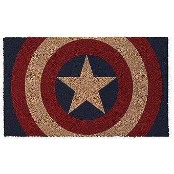 Kapteeni America Shield 17&x 29&Doormat kanssa Liukumaton Takaisin